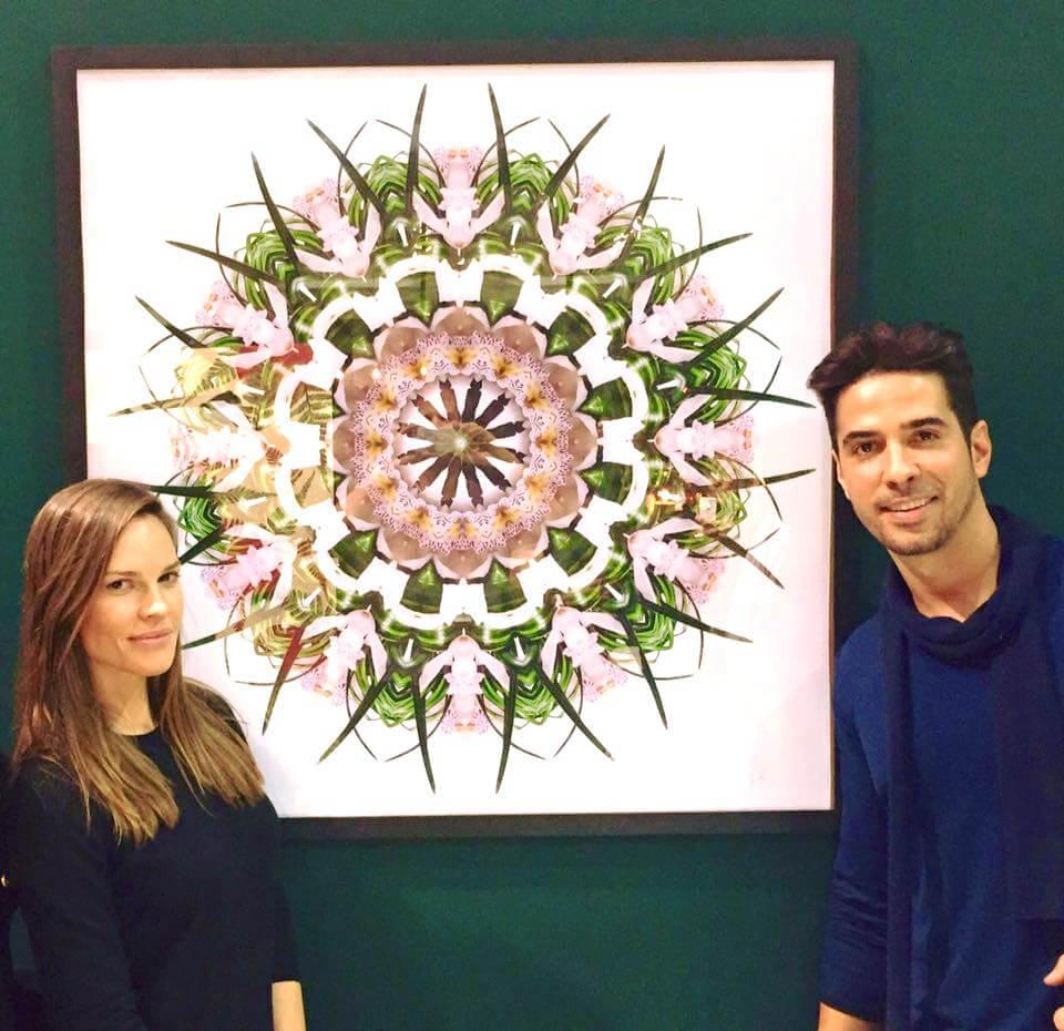 Hilary Swank Mandala Art by Javier Gomez