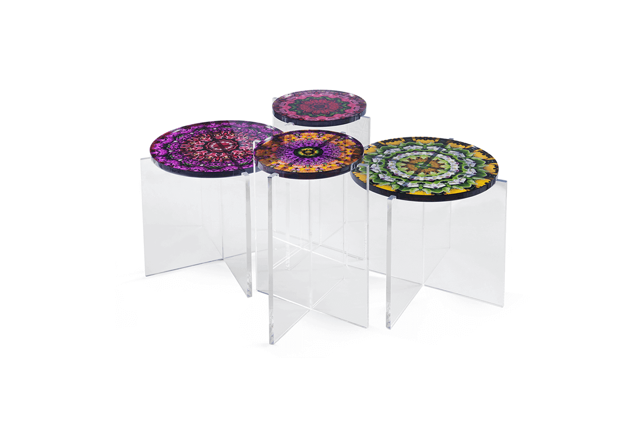 mandala tables acrylic