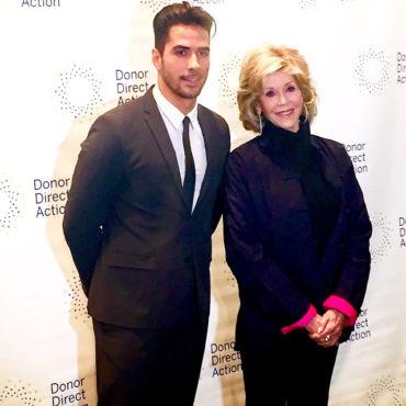 Jane Fonda and Javier Gomez